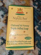 The Naked Bee Oatmeal & Honey Triple Milled Soap, 5 Ounce, Orange Blossom.