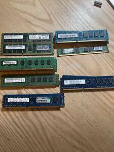 Lot of 19 MIX Hynix 2x4 GB UBDIMM 1333 MHz PC3-10600 DDR3 SDRAM HMT351U6BFR8C-H9