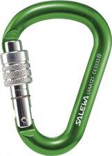 Salewa Carabiner Hms G2 Medium Green Aluminium Climbing Harness Mountain Hiking