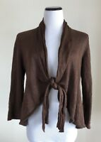 Lafayette 148 Sweater Cardigan Linen Blend Brown Size Small S
