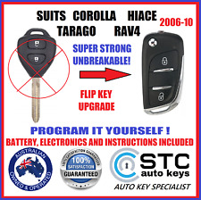SUITS TOYOTA COROLLA HIACE TARAGO RAV4 REMOTE CAR FLIP KEY 2006 2007 2008 2009