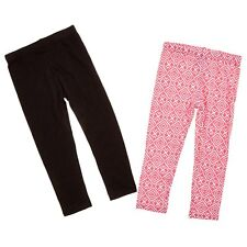 NWT XOXO Kid Girls 2 Pairs Black Pink Everyday Leggings Pants 5T 5 6 BTS