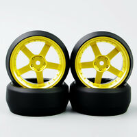 4PCS D5G Drift Car Speed 0 Degre Tyre & 5 Spoke Wheel for HPI 1/10 RC Car Model