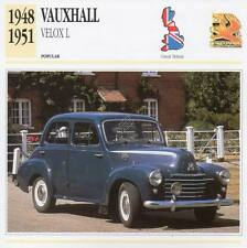 1948-1951 VAUXHALL VELOX L Classic Car Photograph / Information Maxi Card