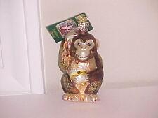 Old World Christmas Monkey glass ornament