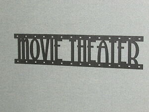 Movie Theater Film Strip Laser Cut Wood Wall Words Hanging Sign Art Decor Reel