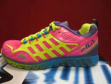 New Fila Front Runner 3 Kids Girls Size 4 Y Running Shoes PNK GL/LPCH/DPBL Pink