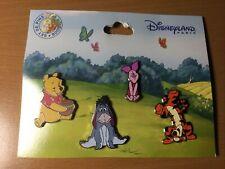 Disneyland Paris Winnie The Pooh Pin Set Dlp Pooh Piglet Eeyore Tigger