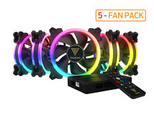 Gamdias AEOLUS M1-1205R 5 x RGB 120mm case fan pack with remote