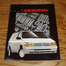 Original 1993 Dodge Caravan Deluxe Sales Brochure 93