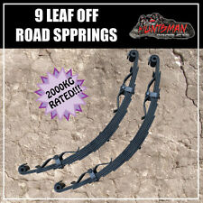 PAIR 9 LEAF OFF ROAD TRAILER SPRINGS. 2000KG. REBOUND STRAPS CAMPER CARAVAN PART