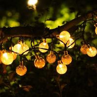 Solar Powered 50 LED String Light Garden Path Yard Decor Lamp Outdoor E
