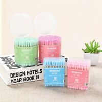 Double Head Disposable Eco-friendly Ear Cleaning Cotton Swab Buds Makeup Tool