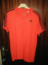 Adidas Ess 3s Polo Top bright orange Size Medium New With Tags climalite