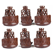 Heavy Duty PU Leather Billiard Pool Table Pockets Webs Replacement 6-Pack Walnut