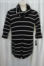 International Concepts Woman Sweater Sz 0X Black White Striped Casual Sweater