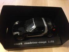 Siku Modell 1:55 - Smart roadster-coupe - schwarz/silber - Smart Werbemodell