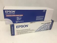 Genuine Epson S041409 13x32 Roll Premium luster Photo Paper & S041233 Glossy
