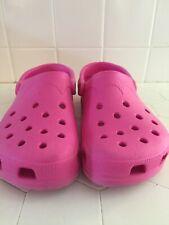 Crocs Classic Slip On Clogs HOT PINK  Women's 8-9 Men's 6-7  MADE IN CANADA EUC