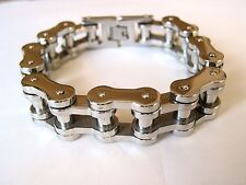 "Biker Chain Heavy Stainless Steel 316L Mens Link Bracelet 9"" Wristband Large"