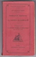 Instruction Provisoire Sur Le Service En Campagne Annexe 1 / 1929