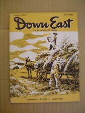 DOWN EAST Maine mag. AUG 1960   Old Lincoln County Buildings   1890's SCHOONERS