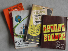 Lot of Vintage Miscellaneous Green Stamps in Books