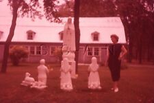 Vintage 1959 Negative / 35mm Slide- Statues- Women's Fashion- Quebec- Canada