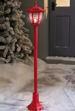 """New Christmas Outdoor Decoration Solar Lamp Post Red Snowman Height 105cm (41"""")."""