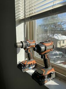 Ridgid Drill/Impact Combo with charger, (2) 3ah octane batteries R86116 &R86037