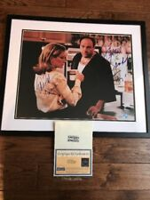 James Gandolfini  Edie Falco Cast Signed Framed 16x20 Sopranos Photo Steiner PSA