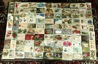 Lot of 102 Antique Holiday Postcards  Quality!  Santa NY Vday Bday Easter Tday 2