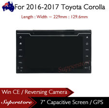 "7"" Navigation Head Unit Car DVD GPS Player  For 2016-2017 Toyota Corolla"