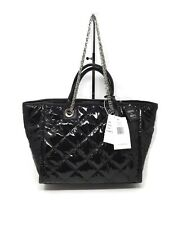 Steve Madden Bstorm Black Tote Quilted Patent Nylon