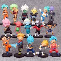 16ps/set Dragon Ball Super Son Goku Vegeta Trunks PVC Action figure Toys Model