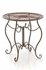#R49475/1509 Tisch Indra antik braun Gartentisch Terrassentisch Eisentisch