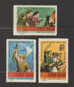 1968 North Vietnam Stamp Foreign Solidarity with Vietnam Sc # 527-529 MNH