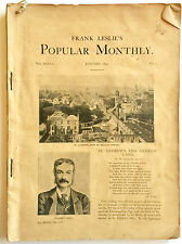 "ANTIQUE 1895 ""FRANK LESLIE'S POPULAR MONTHLY"" ILLUSTRATED LITERARY MAGAZINE"