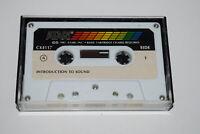Introduction to Sound Atari 400 800 Program CX4117 Cassette in Case