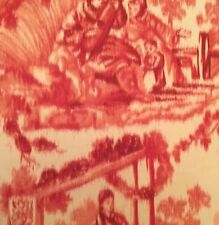 SCHUMACHER Pavillon Chinois Peony Cotton Chinoiserie Remnant New