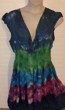 J GEE Blue Green Sz 1X Tie Dye Dress Sleeveless NEW