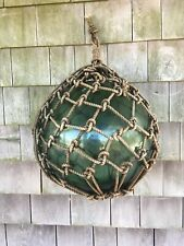 Vintage Large Japanese Aqua Green Glass Fishing Float - 41 inch circumference