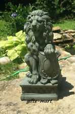 LION estate welcome driveway Entrance Statue outdoor Statuary Garden patio Art