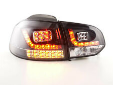 VW GOLF MK6 1K 2008-2012 neri LED Posteriore Tail lights taillights RHD gratis P&P Nuovo