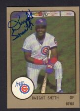 Dwight Smith 1988 Iowa Cubs Autographed Signed w/COA jh55