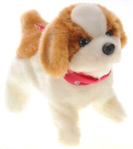 Small Puppy Dog Can Sit Walk Somersaults Bark Animal Stuffed Toy Boy Girl Safe