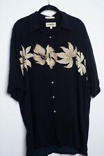 Hawaiian Shirt - Campia 100% Rayon Frond Print Shirt Mens L