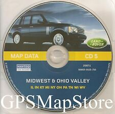 2000 to 2004 Range Rover Navigation Map #5 Cover IL IN KY MI NY OH PA TN WI WV