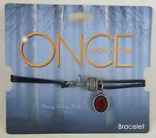 New ABC Disney Once Upon A Time Captain Hook Cord Bracelet With Charm