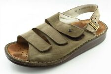 Finn Comfort Size 38 M Brown Slingback Leather Women Sandal Shoes